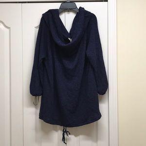Caslon navy blue oversized cowl neck sweater